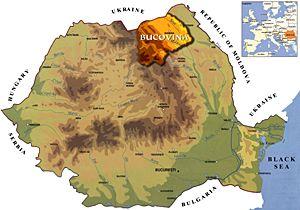 Map Romania Bucovina Travel Impressions Pods Map