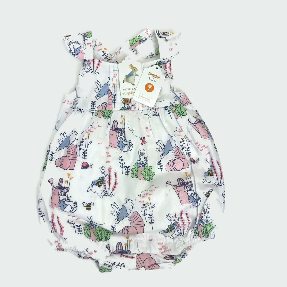 NWT Gymboree Floral Bee Flower Print Romper One Piece Baby Toddler Girl