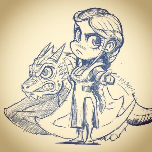 Daenerys Game Of Thrones Chibis Kawaii Drawing By Jonathan