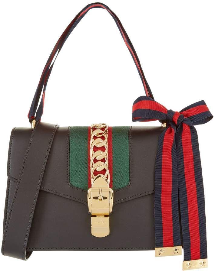 c5707b4dde5 Gucci Sylvie Leather Shoulder Bag