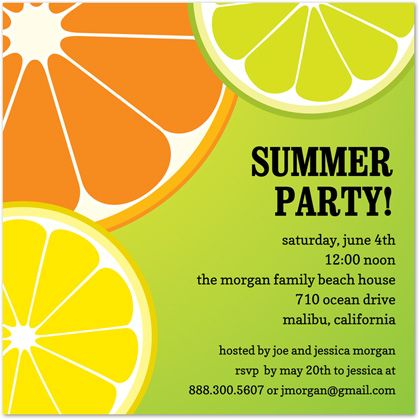 Kiwi orange lime summer modern invitations milas 1 pinterest kiwi orange lime summer party invitations featuring fresh kiwi orange and lime for summer party event and other occasions stopboris Gallery