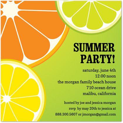 Spring Party Invitationspartyinvitationwording – Summer Party Invite