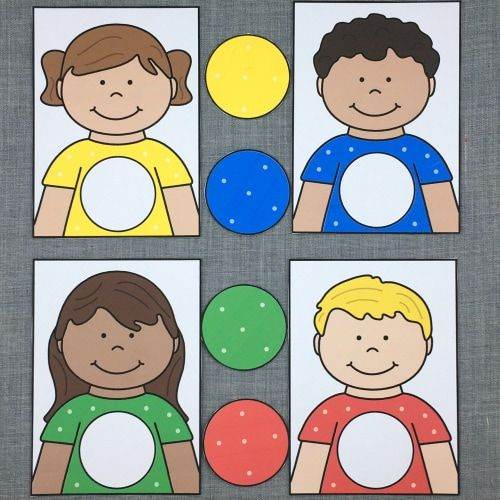 Learning Friends Color Match For Preschool And Kindergarten