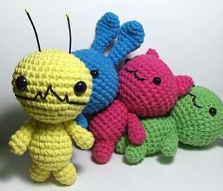Ravelry: Alien Hominid, Chibi Kawaii Cat, Bunny and Bear or Other Amigurumi Patterns pattern by Nerdigurumi