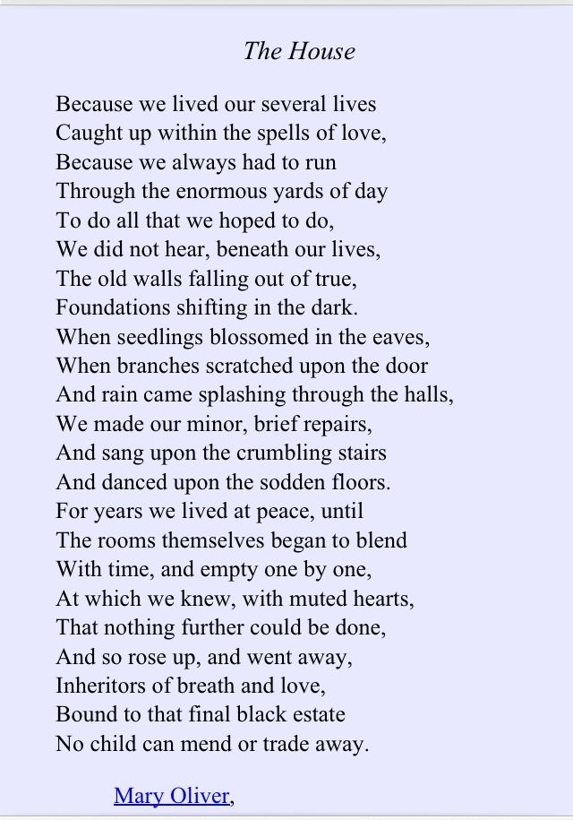 Mary Oliver Thi Would Be Great For Poetry Analysi Maybe I Could Use To Teach Or Practice Tp Castt Poem Poetic Word Quotes Because Not Stop Death Paraphrase