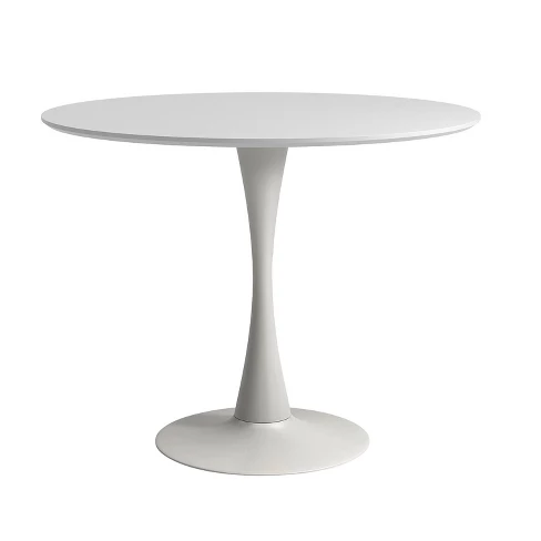 Aeon Cameron Modern 36 In Round Dining Table With Tulip Style