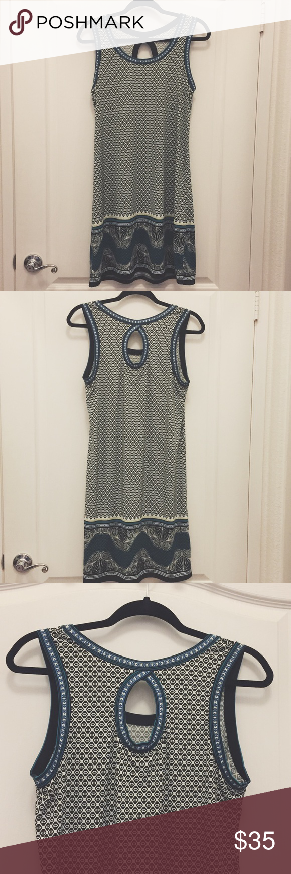 45c17f7637f7ec Max studio keyhole back dress Max Studio flowy printed tank dress with a  keyhole in the back. There is a tiny tear on the back right side but it's  barely ...