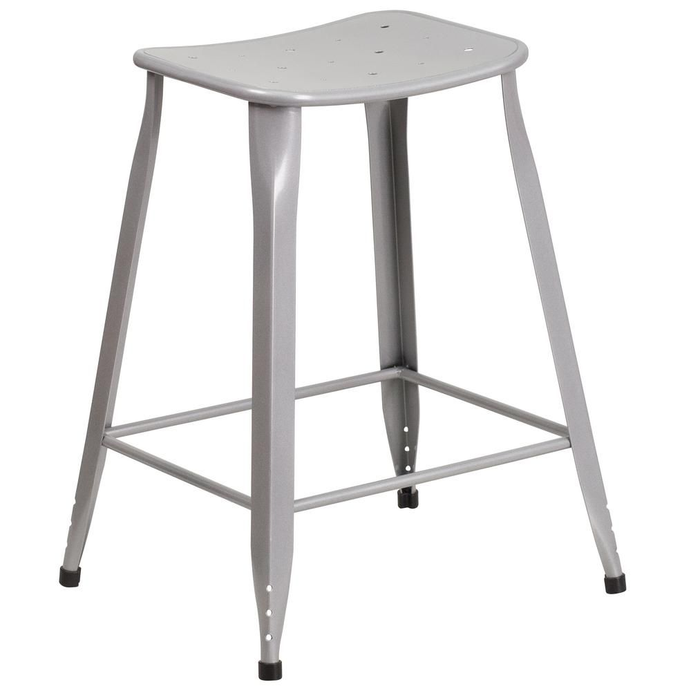 Flash Furniture 23 75 In Gray Bar Stool Et360424sil The Home