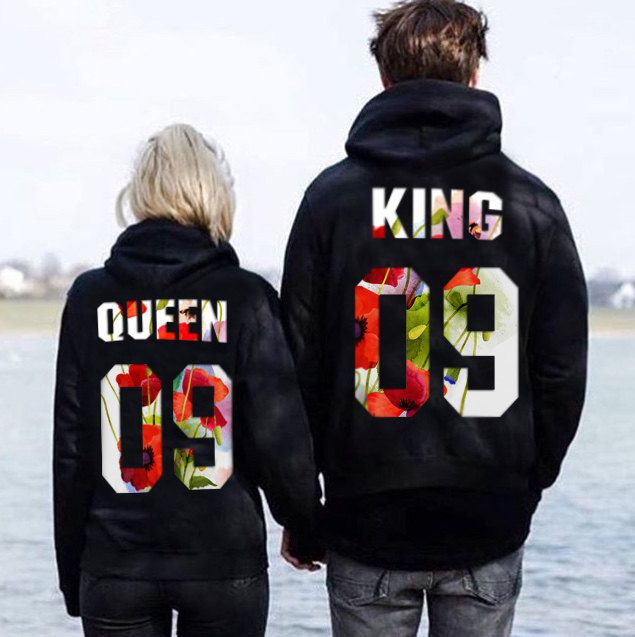 el más nuevo 870af 66f05 Couples hoodies couples sweaters King and Queen sweatshirts ...