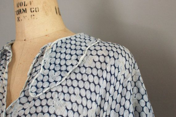 1930s blouse / vintage 30s top / Singing Polka Dots by DearGolden, $88.00