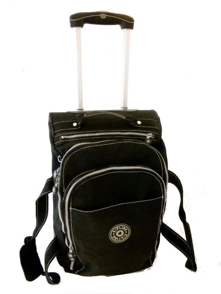 KIPLING Black Travel Luggage Rolling Trolley Cabin Suitcase Bag 55 X 34cm  In Home, Furniture