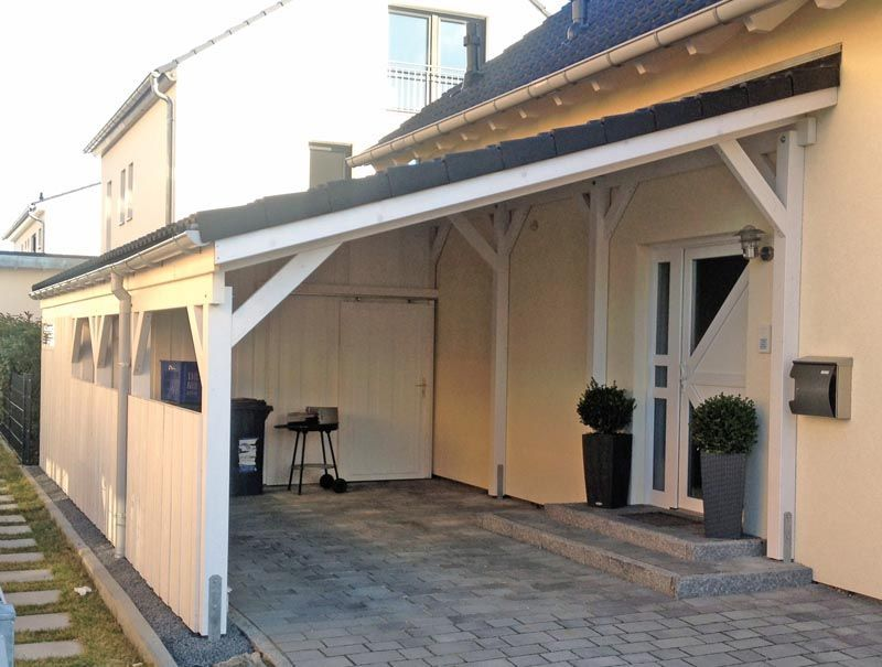 Carport Aus Holz Mit Pultdach Aus Backyardpatioattachedtohouse Carport Holz Mit Pultdach Carport Designs Wooden Carports Backyard Pergola