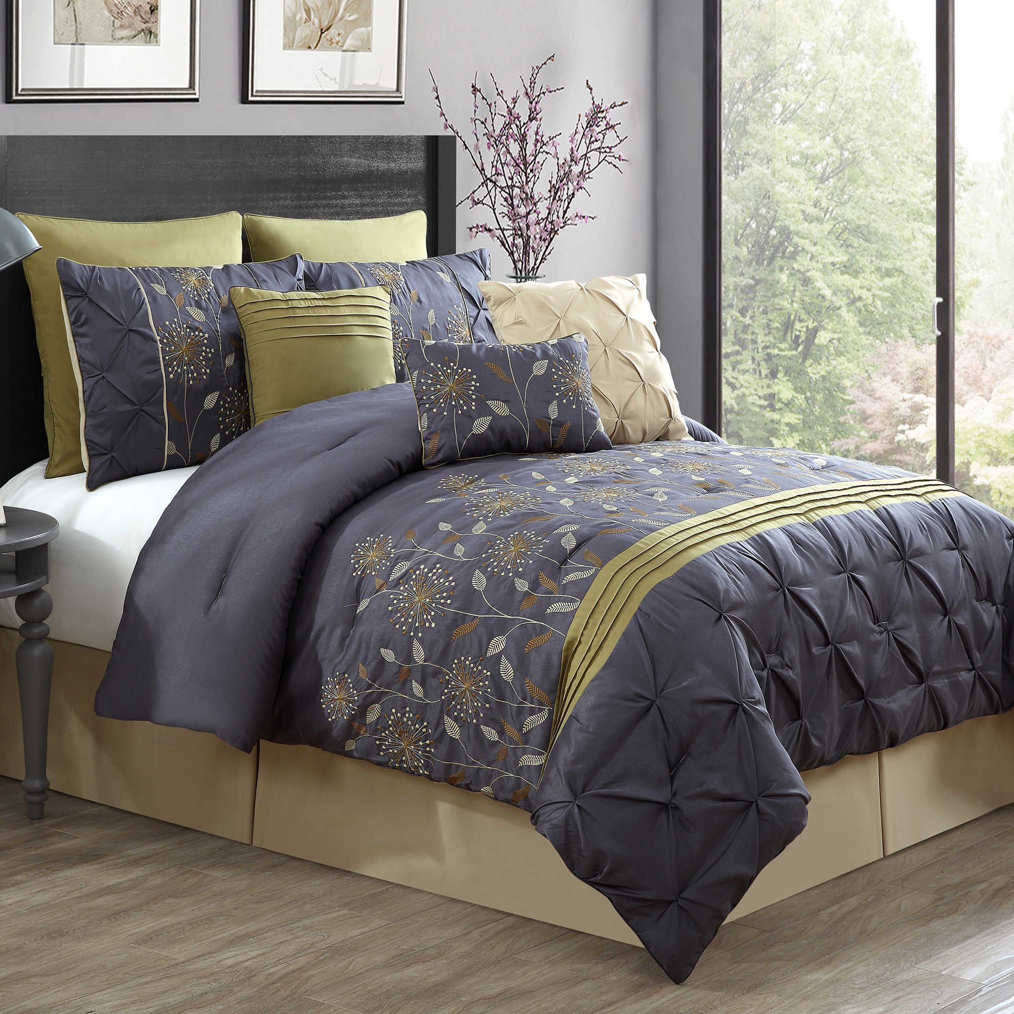 a aico nat avenuea avenue queen natural bcs piece comforter set