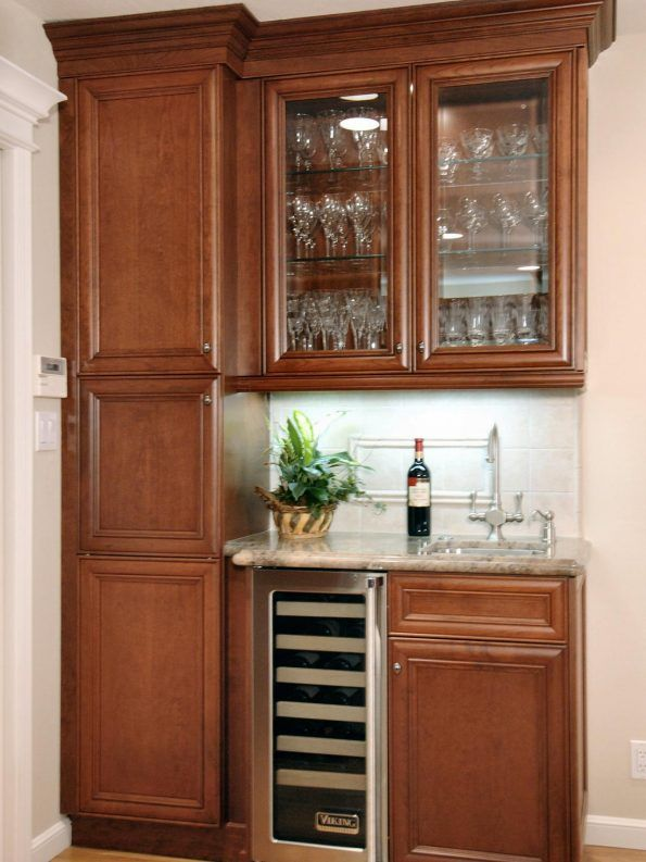 Furniture Brown Wood Bar Cabinet Ideas Together With