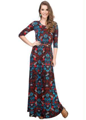 43e235252 Vestido Longo (Preto) Enfim | Vestidos | Dresses with sleeves ...