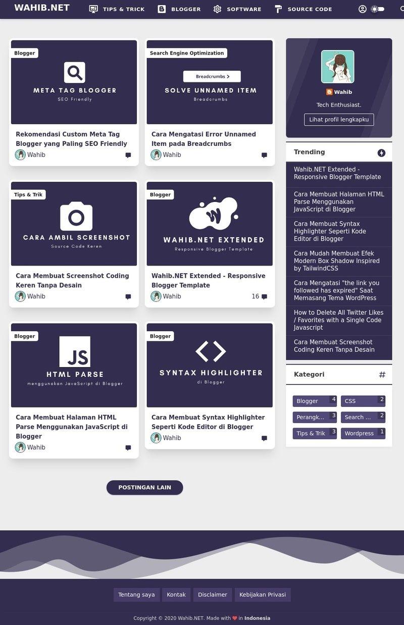 Template Viomagz Versi 3 3 Redesign Grid Igniel Evolusi Desain Blogger