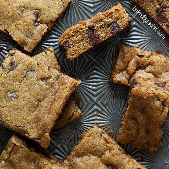 Give blondies a fall makeover with this pumpkin spice version of the classic chocolate chip bar. Try the Pumpkin Chocolate Chip Blondie Bars recipe here./