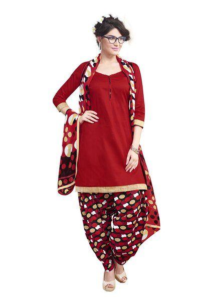 97cdb69a5a74 Miraan Cotton Printed Unstitched Patiyala Dress Material Rani10013 ...