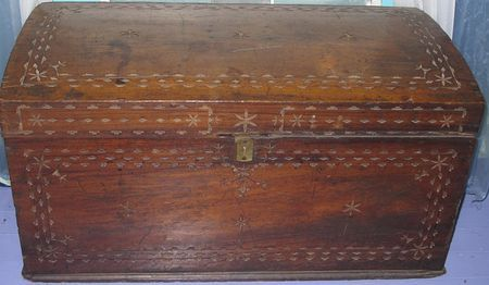 Dusty Old Things. My Great Grandmother's trunk that she carried over to Michigan from Canada remains in Oregon. I hope someday I will get it returned to me.