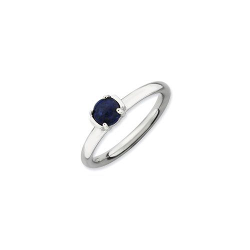 Silver Stackable Blue Lapis Ring, size 5 *** You can get more details by clicking on the image.