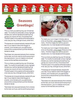 christmas newsletters examples