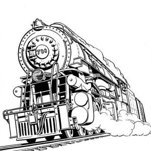 Coloring Page: Amazing Steam Train on Railroad Coloring Page ...