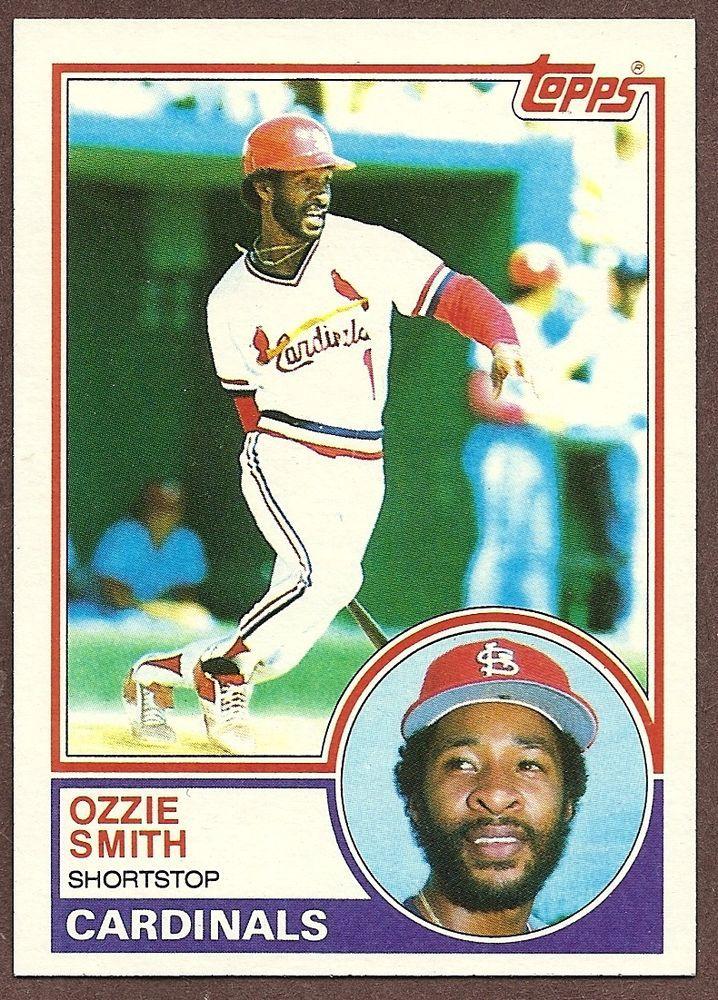 1983 Topps Ozzie Smith Baseball Card 540 Baseball Cards St Louis Cardinals Baseball Cardinals Baseball