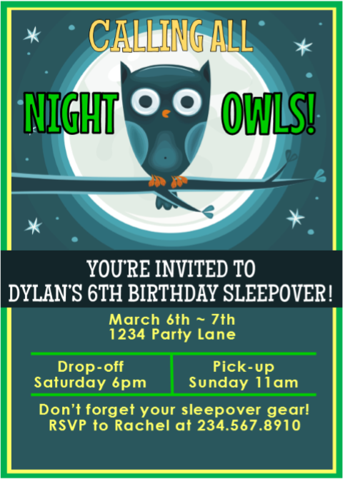 editable boys sleepover invitations instant download