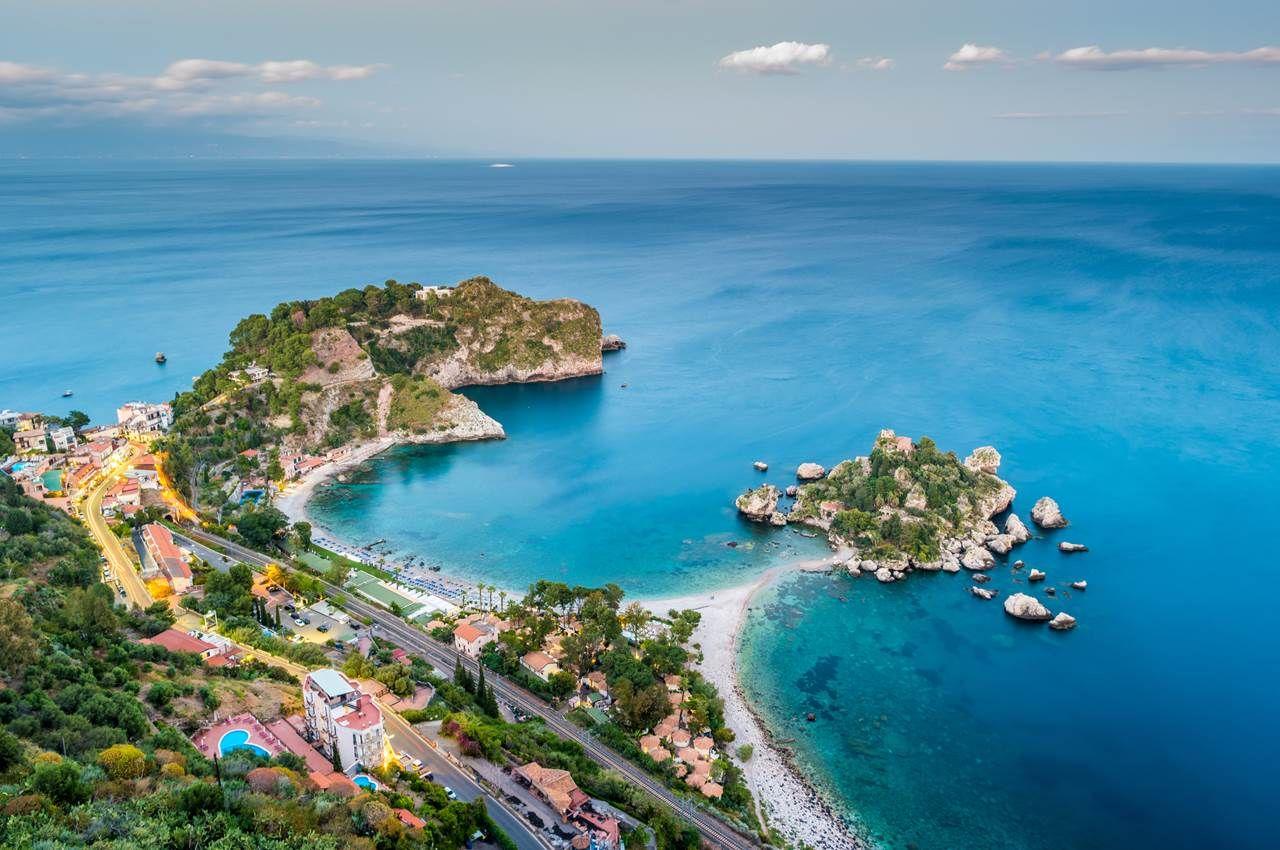 Isola Bella, Taormina, Sicily, Italy Beaches in the