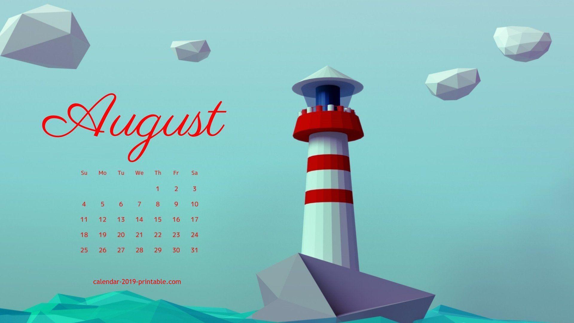August 2019 Calendar Hd Wallpaper Calendar Wallpaper Desktop Calendar Calendar Printables