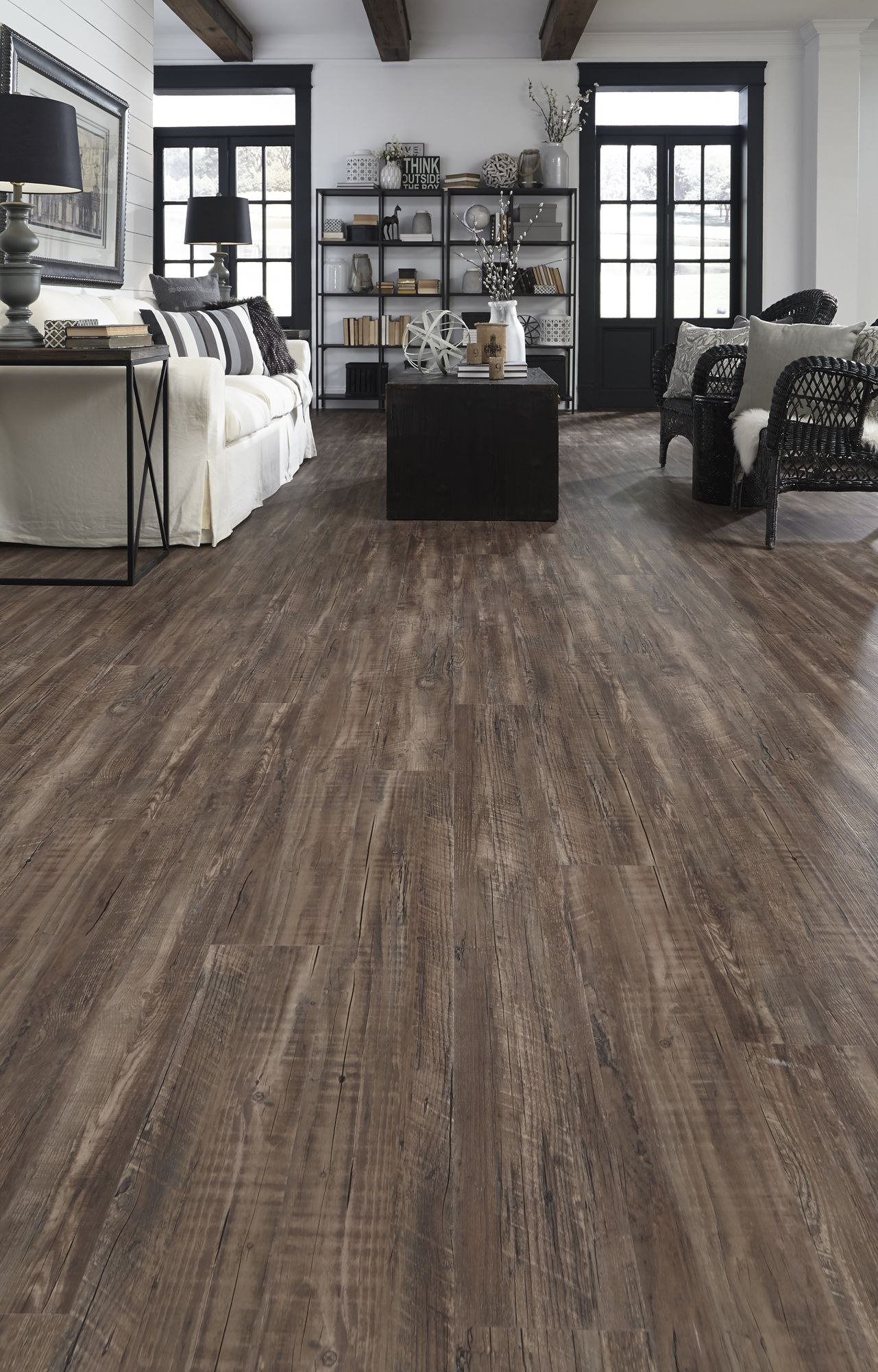 Rustic Reclaimed Oak waterproof luxury vinyl plank