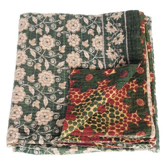 kantha sari blanket kamca_fair trade bangladesh