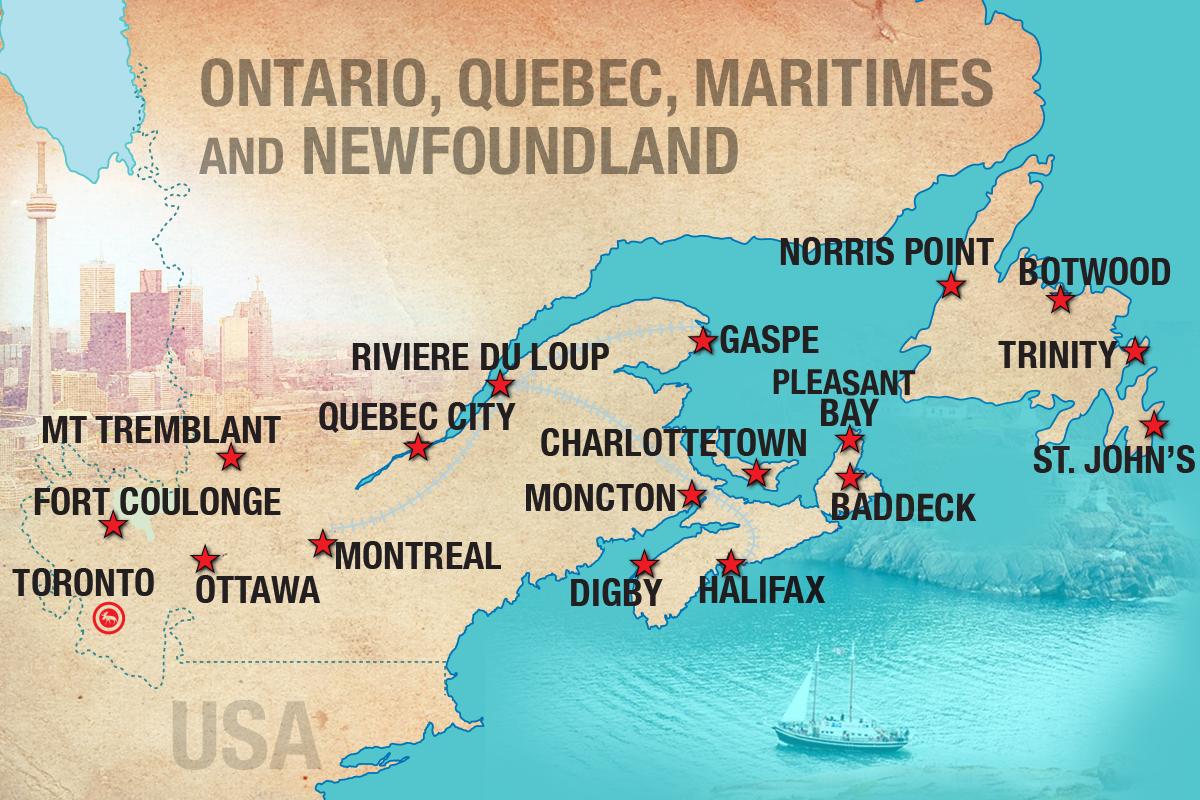 East Coast Canada Map