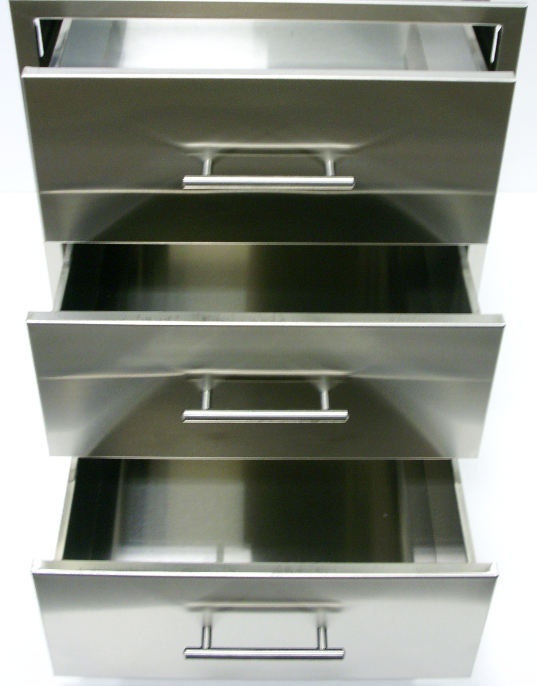 Stainless Steel 3 Drawer Outdoor Insert Outdoor Kitchen