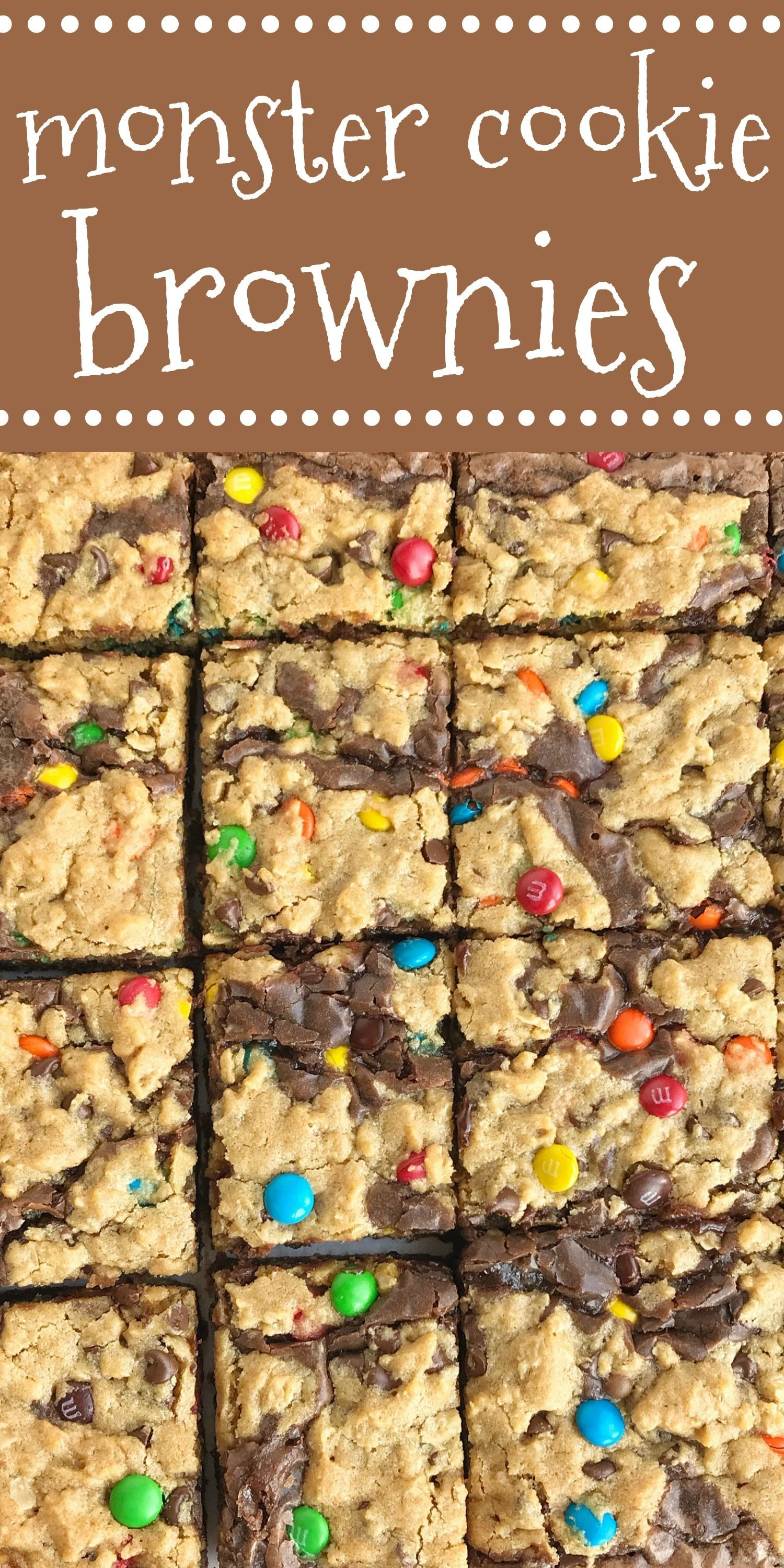 Monster Cookie Brownies | Monster cookie brownies start with a boxed brownie mix...   - //food