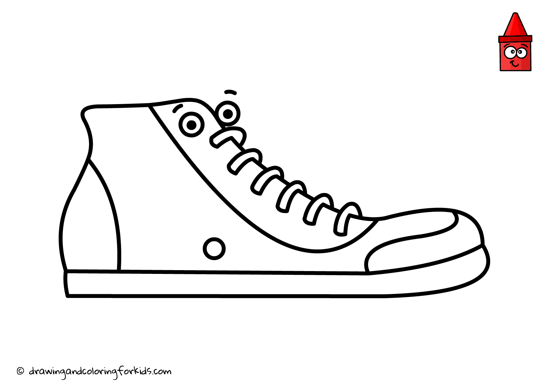 Sneakers Coloring Book | How to Draw Sneakers Step by Step | Clothes ...