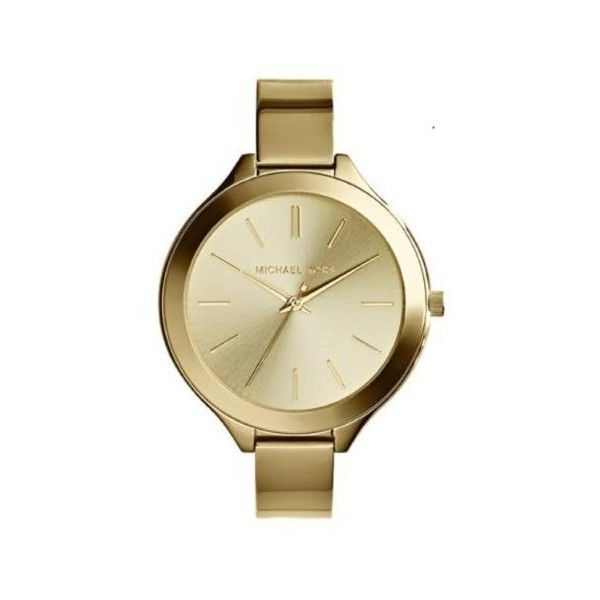 36% Off was $195, now is $124! Michael Kors Slim Runway Champagne Dial Gold-tone Ladies Watch