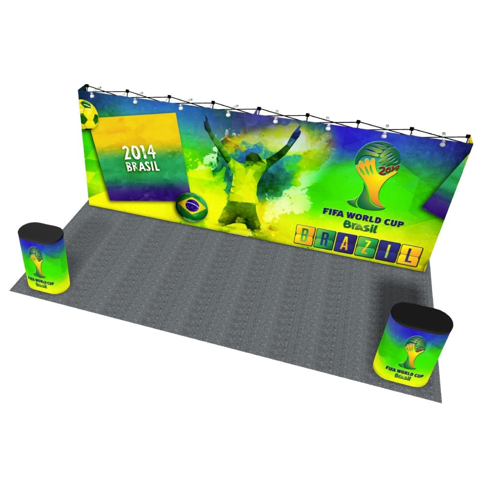 VBurst 20ft Straight Popup Display is great for media events!