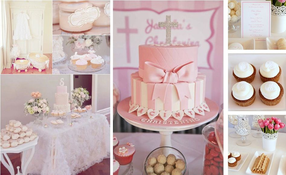 Pink baptism decorations ideas for girls baptism for Baby baptism decoration ideas