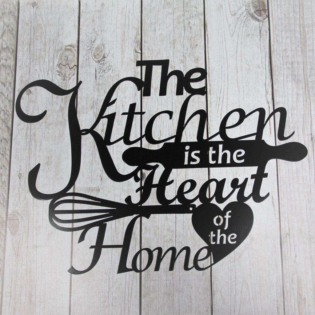 The Kitchen Is Heart Of Home This Very Decorative Metal Wall Decor Would Look Great In Any Country Or Resteraunt