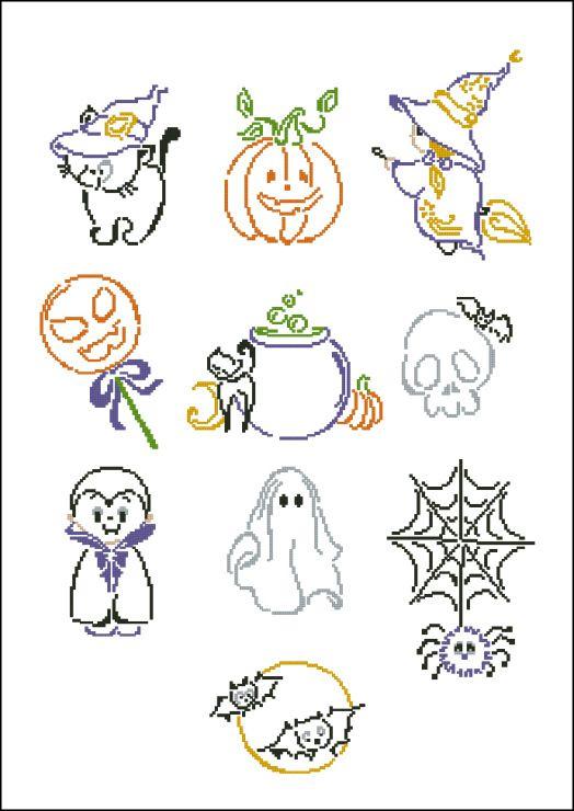Gallery.ru / Halloween motifs - Дарю всем - tani211 | Cross stitch ...