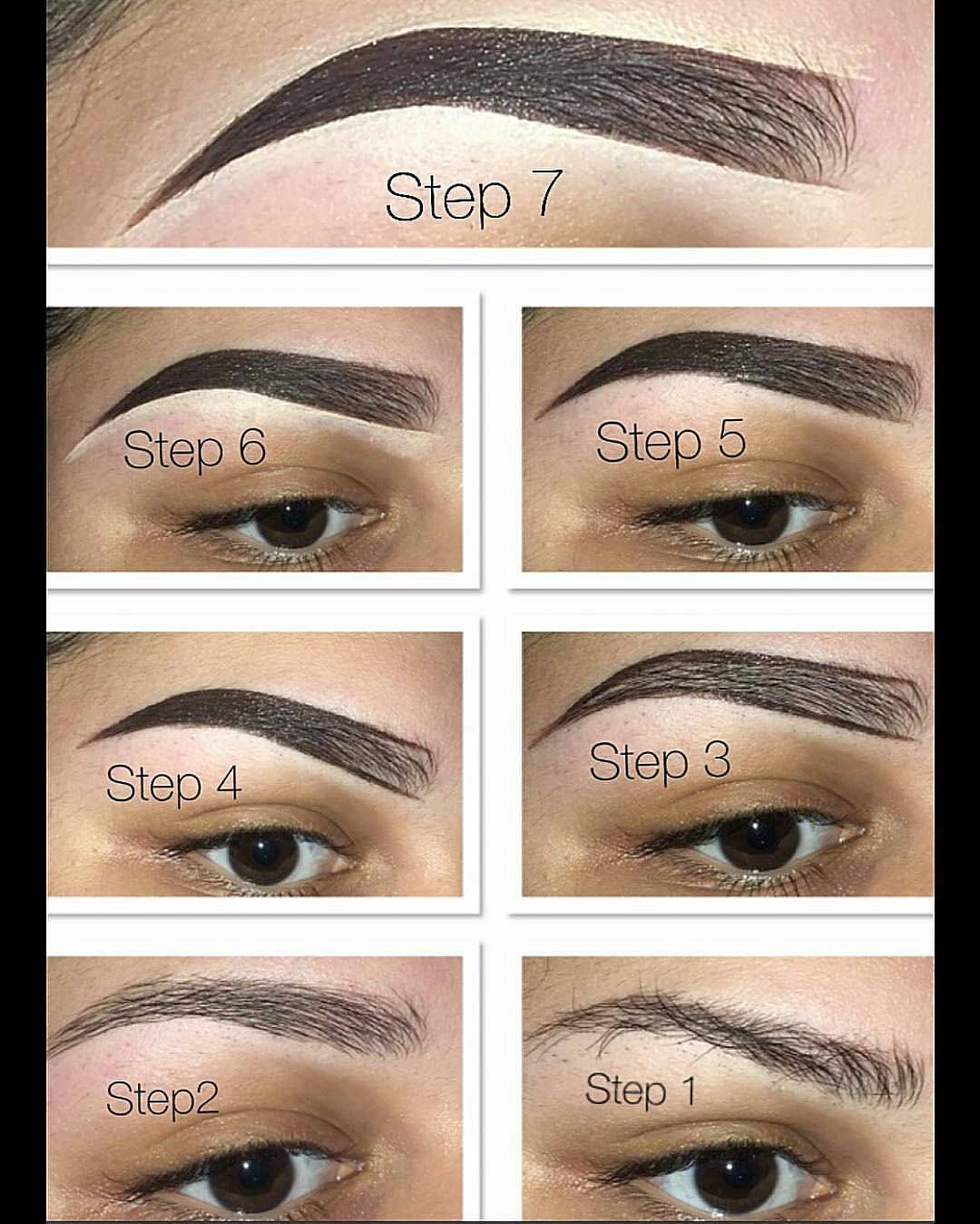 Easy Brow Tutorial Makeupbypriscillavce Fill In Eyebrows With