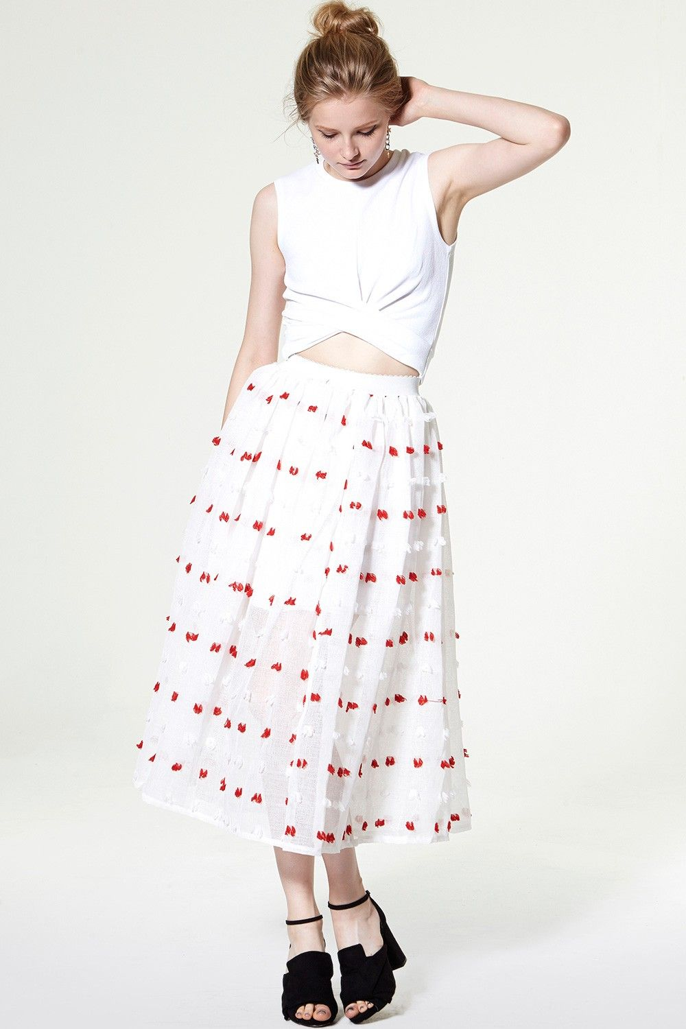Lolita Frayed Gauze Skirt Discover the latest fashion trends online at storets.com