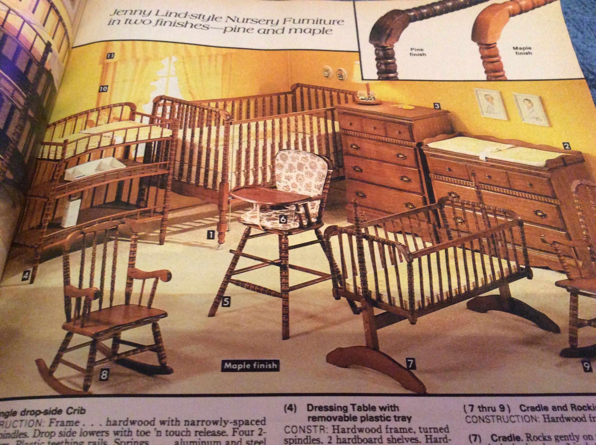 1980 Sears Catalog Vintage Baby Vintage Baby Baby Furniture Pine Furniture Sears baby bedroom set