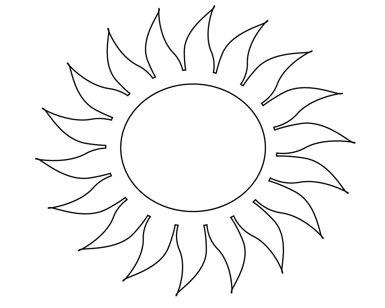 Free Sun Coloring Pages For Your Little Ones | Sun ...
