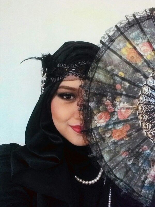 The Great Gatsby Theme 1920s Self Makeup Inspired By Michelle Phan Try To Match 1920s Accessories With Hijab And Voila Love It