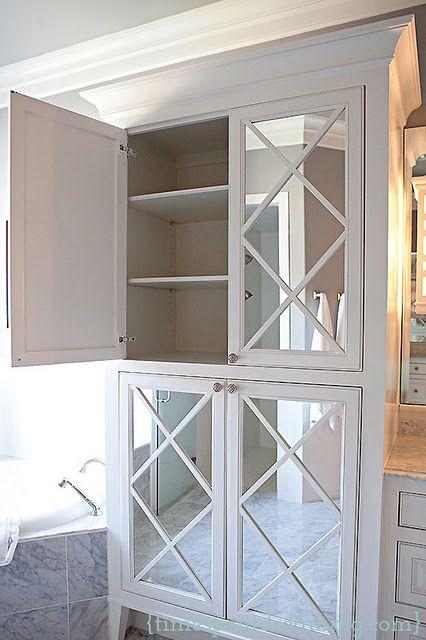 Mirrored Bathroom Cupboard