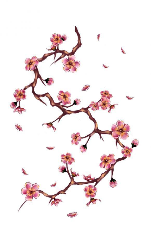 Cherry Tree Branch Tattoo Cherry Tree Tattoos Tree Branch Tattoo Cherry Blossom Tattoo