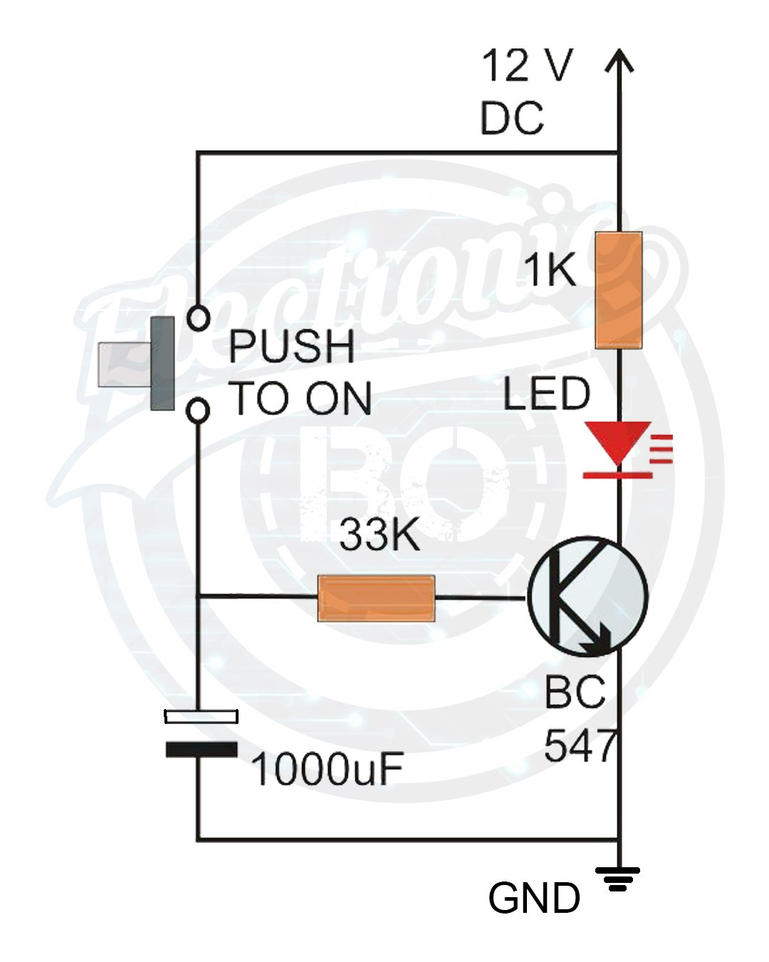 Basic Delay Circuit Diagram