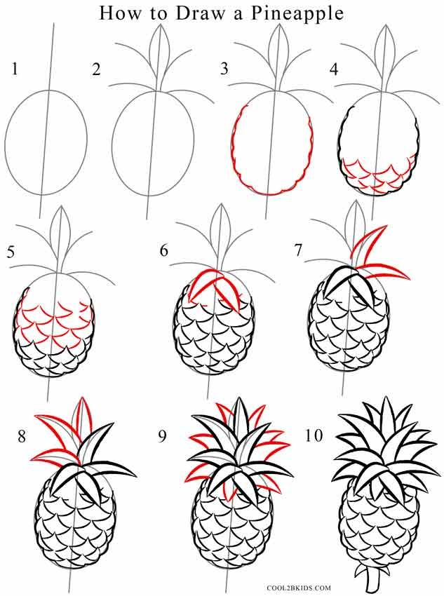I am obsessed with pineapples pinterest for Fun stuff to draw step by step